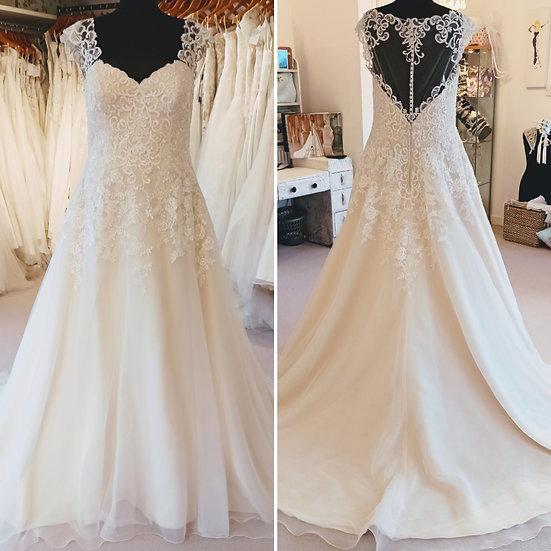 Size 22 ivory and blush A-line Ladybird Bridal wedding dress