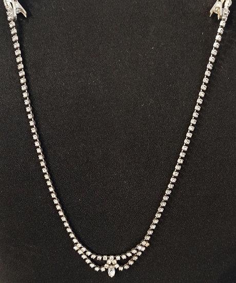 Diamante back necklace