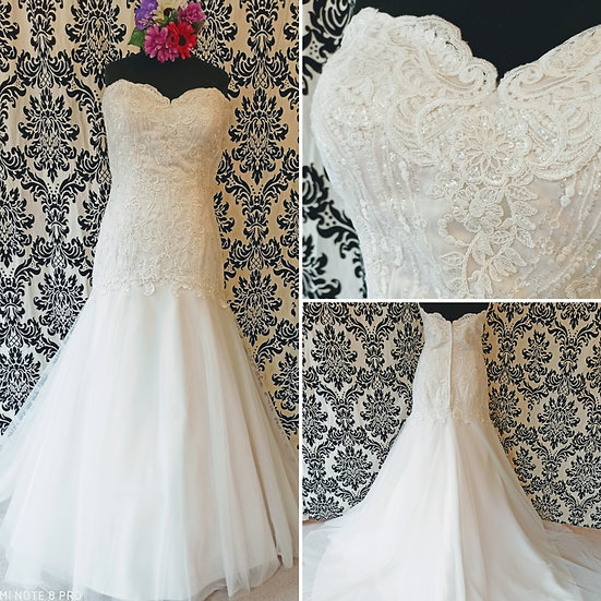 Size 24 Millie May Bridal fit & flare wedding dress