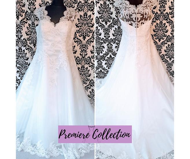 Size 26 Beautiful Brides + ivory lace A-line wedding dress