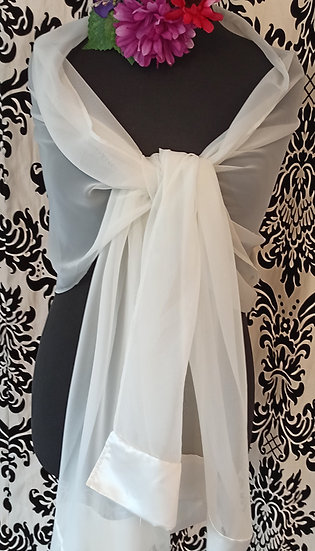 Chiffon and satin wrap