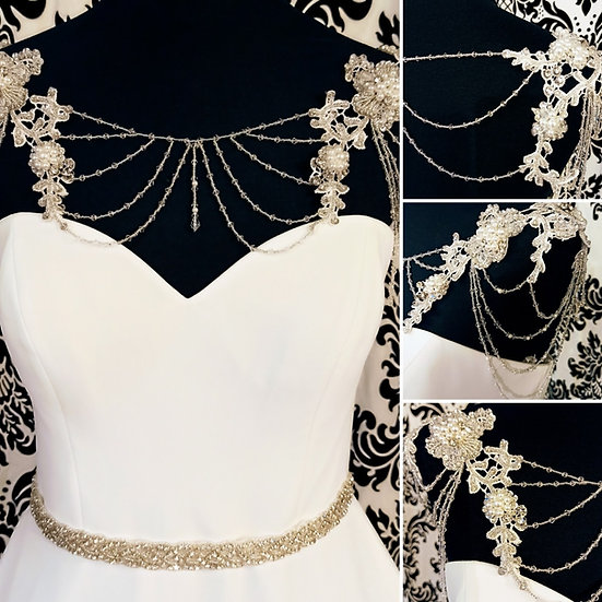 Bead and lace strap and wrap combination