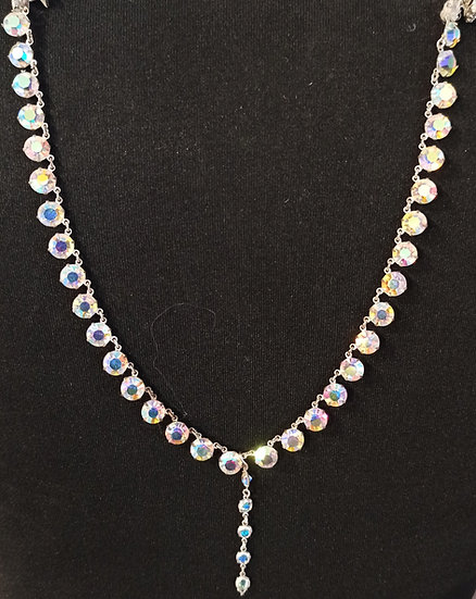 Crystal dropper back necklace
