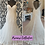 Thumbnail: Size 14 Phil Collins ivory/nude lace fit & flare wedding dress
