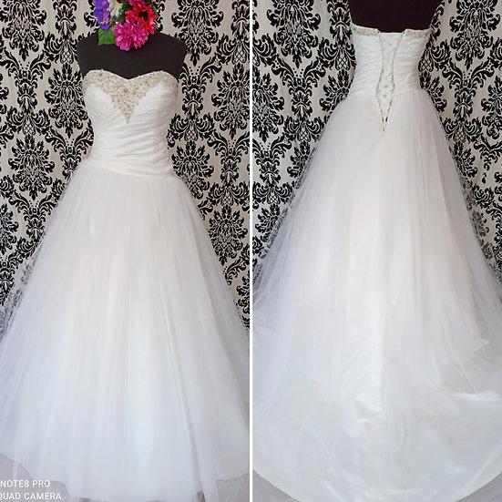 Size 12 La Prima tulle & satin ballgown wedding dress