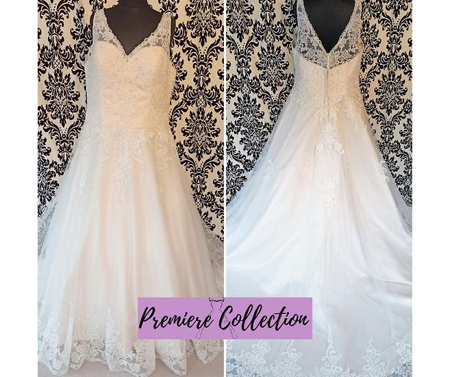 Size 24 Beautiful Brides + champagne lace A-line wedding dress