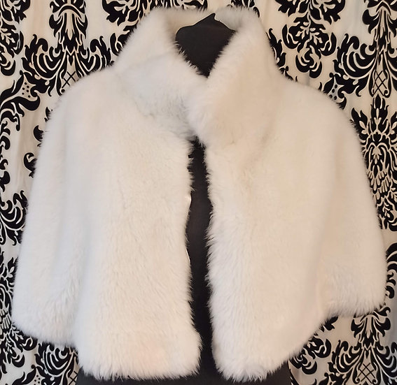 Short faux fur cape - one with bobble tie, one without