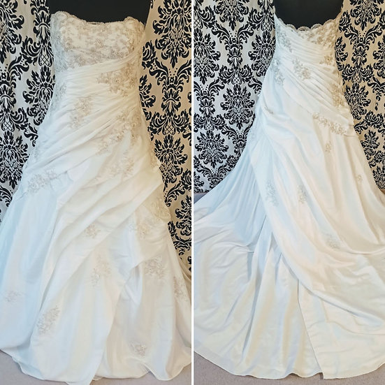 Size 20 sample satin A-line wedding dress