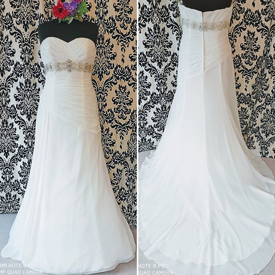 Size 18 Nicole Jackson chiffon A-line wedding dress