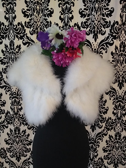 Maribou feather jacket M/L