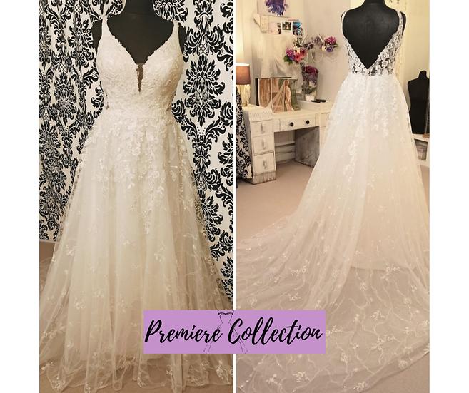 Size 14 Allure Romance boho lace and bead wedding dress