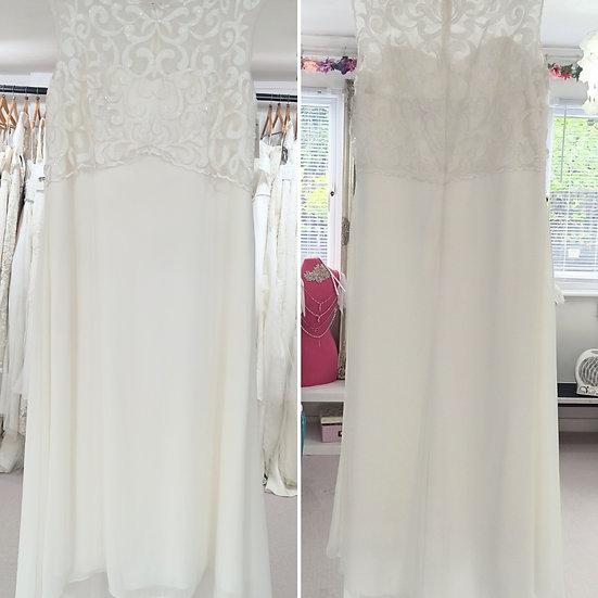 Size 24 Joanna Hope bead, lace and chiffon simple wedding dress