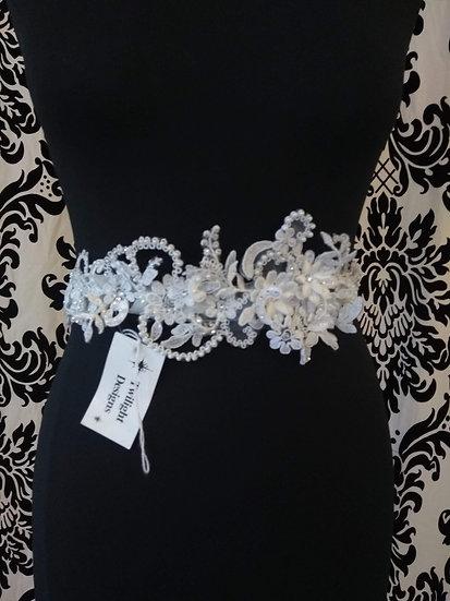 Twilight Designs lace & bead sash