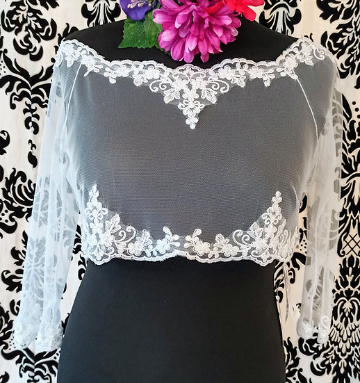 Bianco Evento new ivory lace bardot over-top (12/14)