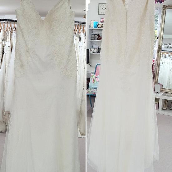 Size 28 Millie Grace 'Bella' ivory lace wedding dress