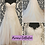 Thumbnail: Size 18 Sincerity champagne lace wedding dress with removable jacket