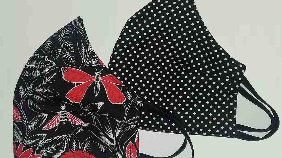 Wendy's Garden Cotton - Reversible 3 ply non medical cloth face mask
