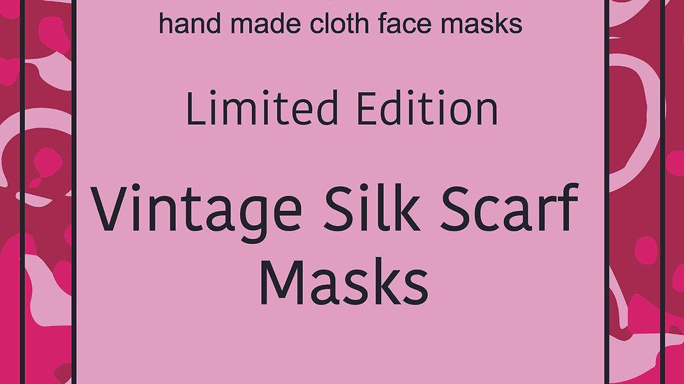 Vintage Silk Scarf Masks