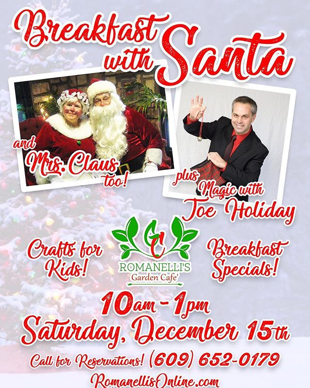 Breakfast with Santa & Mrs. Claus this S
