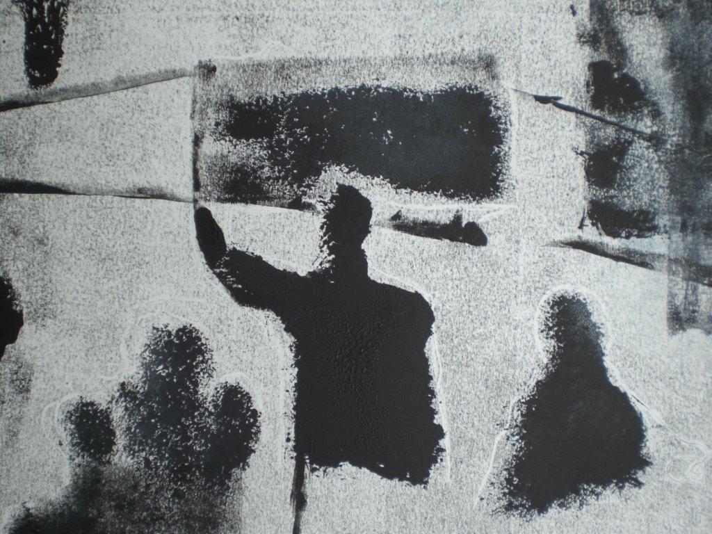 Monotype/krijt/papier