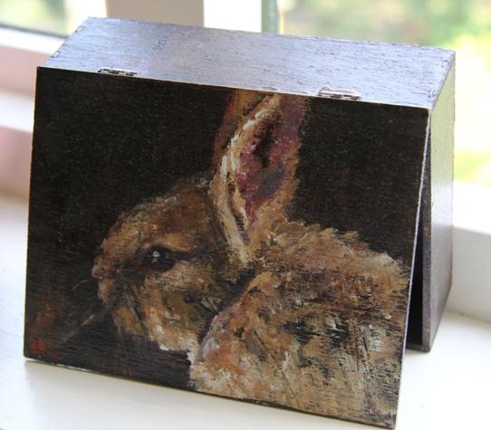 Acryl/houten kistje