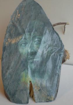 Acryl/hout/papier