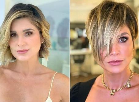 Flávia Alessandra surge com o cabelo curtinho ...