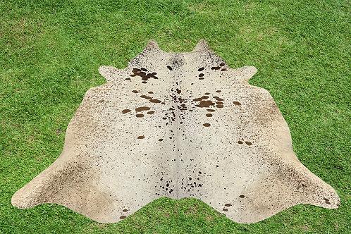 Cowhide Rugs Brown Area Rug 5.5 x 5 ft Medium