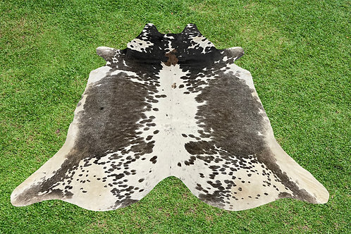 Small Cowhide Rugs Gray Brown Leather Area Rug 5 x 4.5 ft