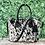 Thumbnail: Medium Real Cowhide Handbag Purse Tote Shoulder Bags Black Leather