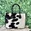 Thumbnail: Large Cowhide Tote Bag Handbag Shoulder Laptop Bag