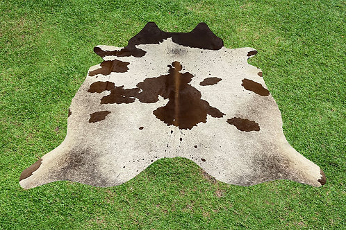 Small Cowhide Rugs Brown White Area Rug 5 x 4.5 ft