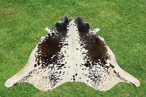 Medium Cowhide Rugs Tricolor Animal Skin Area Rug 5 x 5 ft