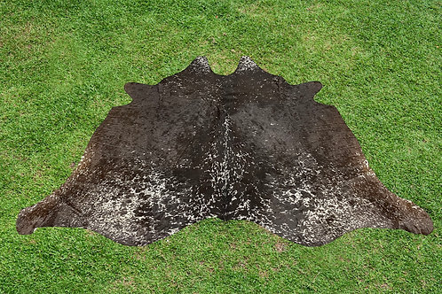 Small Cowhide Rug Tricolor Area Rugs 5.5 x 4 ft