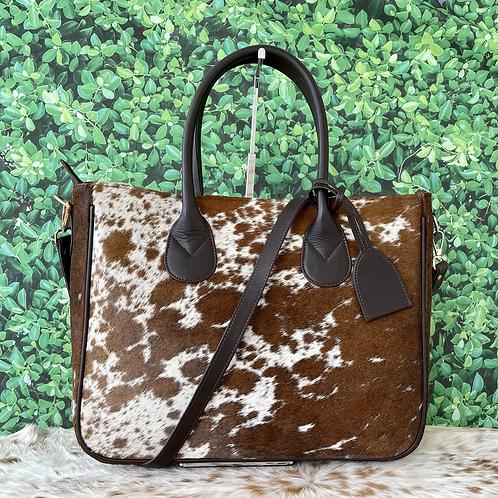 Large Cowhide Purse Handbag Tote Shoulder Laptop Bag