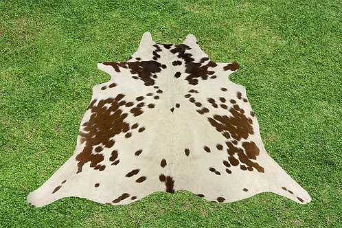 X Small Cowhide Rugs Brown Leather Area Rug 4 x 4 ft