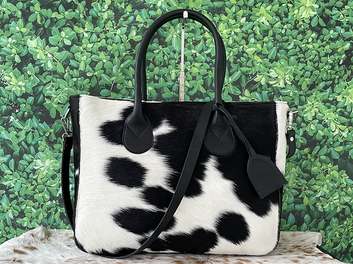 Large Cowhide Tote Bag Handbag Shoulder Laptop Bag