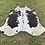Thumbnail: Large Cowhide Rugs Tricolor Cow Skin Area Rug 5 x 6 ft