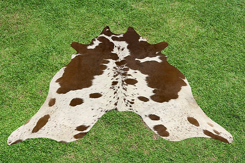 Large Cowhide Rugs Brown Leather Area Rug 5 x 6 ft