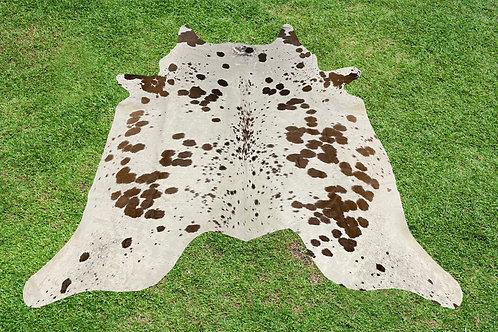 Cowhide Rugs Brown Area Rug 5 x 5 ft Medium