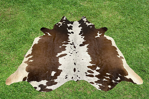 Small Cowhide Rugs Tricolor Animal Skin Area Rug 5 x 5 ft
