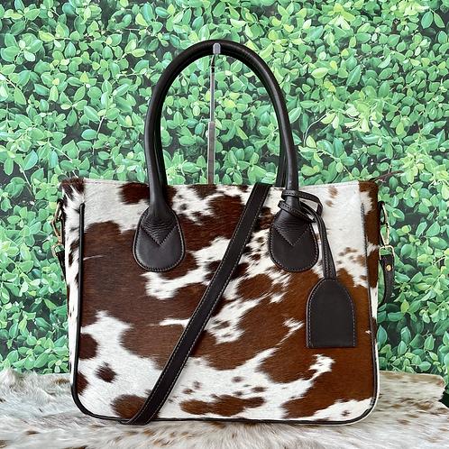Cowhide Purse Handbag Tote Shoulder Laptop Bag Medium