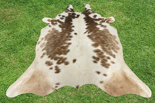 X Small Cowhide Rugs Brown Area Rug 4.5 x 4 ft