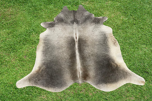 X Small Cowhide Rugs Gray Leather Area Rug 4 x 4 ft