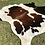 Thumbnail: XL Large Cowhide Rugs Tricolor Cow Skin Area Rug 7 x 7 ft