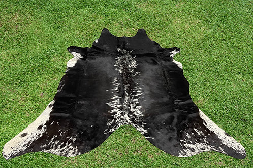 Small Cowhide Rugs Black Cow Skin Leather 5 x 4/5 ft