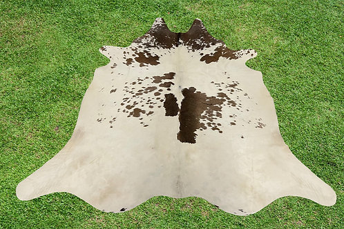 Small Cowhide Rugs Brown Area Rug 5 x 4.5 ft