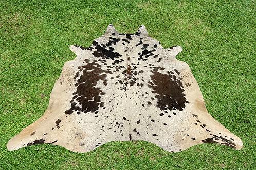 Small Cowhide Rugs Dark Brown Area Rug 5 x 5 ft