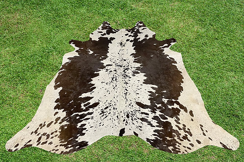 Large Cowhide Rugs Brown Leather Area Rug 5.5 x 5.5 ft