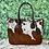 Thumbnail: Large Cowhide Purse Handbag Tote Shoulder Laptop Bag